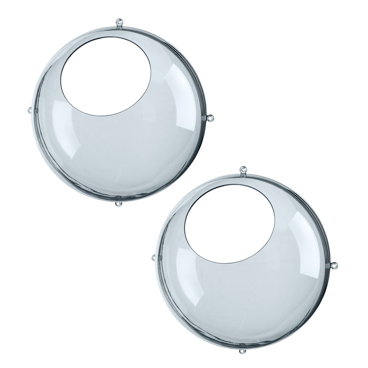 Présentoir suspendu Orion en gris transparent (ensemble de 2) par Koziol
