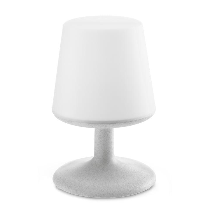 Lampe de table sans fil en gris organique de Koziol.