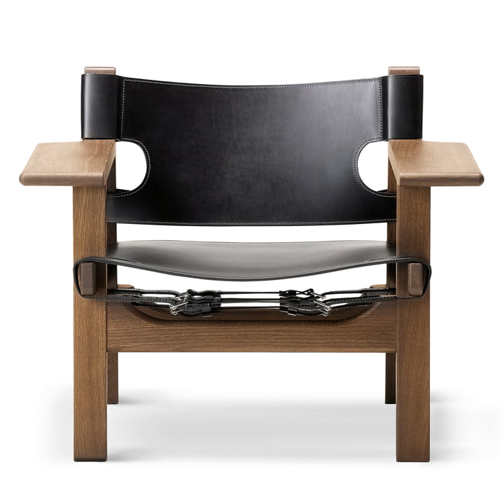 Fredericia - Chaise espagnole, Chêne fumé et huilé / Cuir s