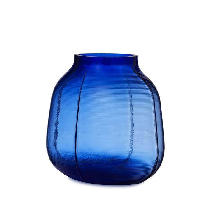 Vase marchepied H 23 cm en bleu par Normann Copenhagen