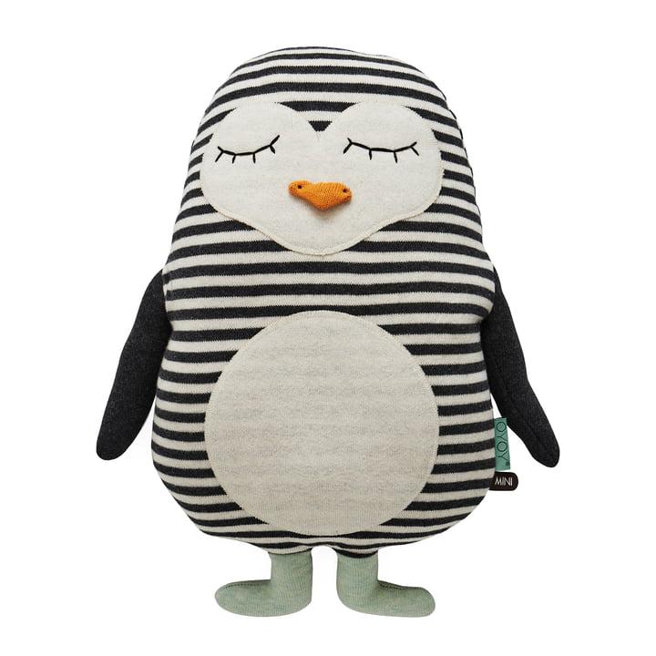 Peluche tricotée Penguin Pingo par OYOY