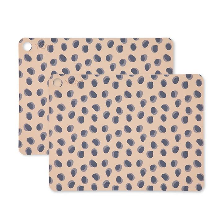 Set de table Leopard Dots, 45 x 34 cm en chameau (set de 2) par OYOY