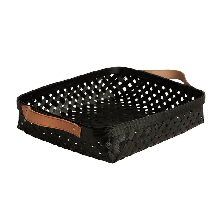 Panier à pain Sporta, 30 x 25 cm, bambou noir par OYOY