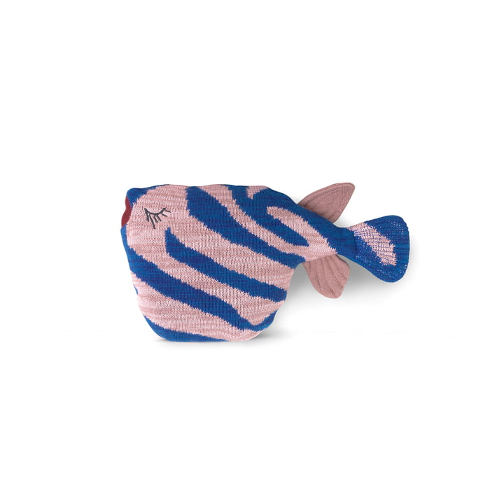 Coussin Fruiticana Tiger Fish, bleu / rose par ferm Living