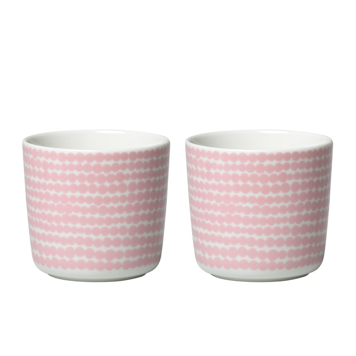 Oiva Siirtolapuutarha tasse (ensemble de 2) 200 ml de Marimekko en blanc / rose