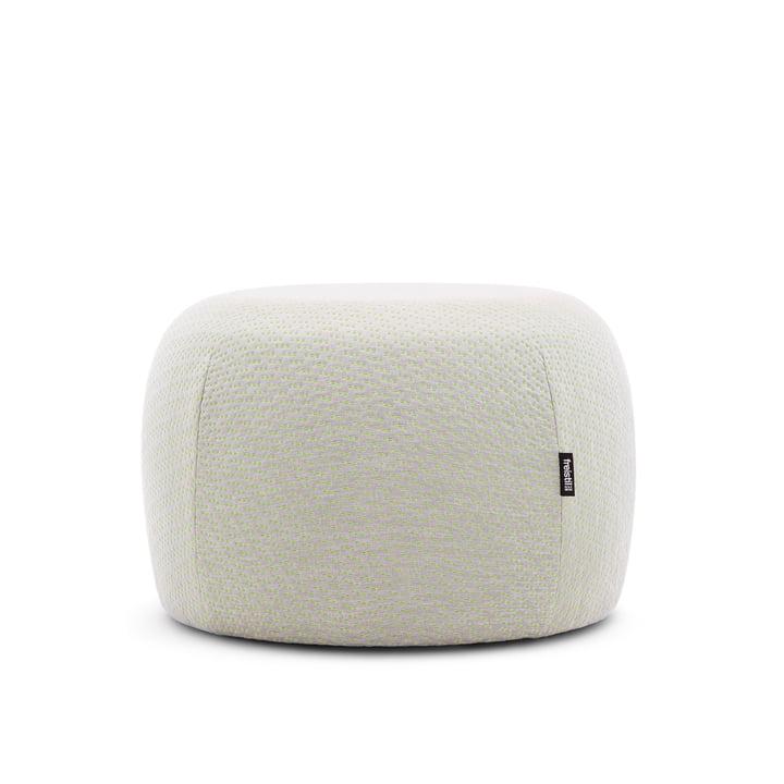 173 Tabouret, Ø 50 cm, tricoté blanc vert par freistil