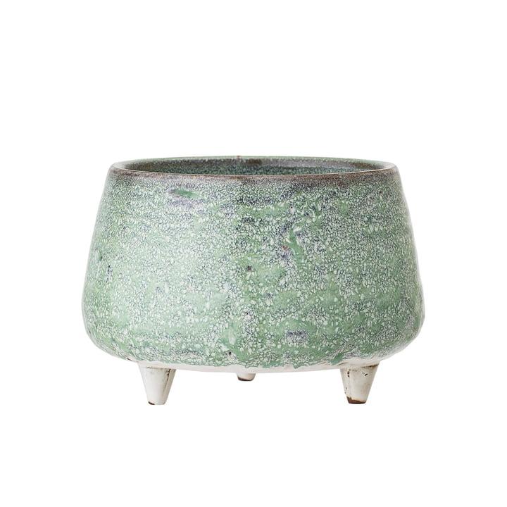 Pot en grès avec pieds Ø 14 x H 9,5 cm de Bloomingville en vert