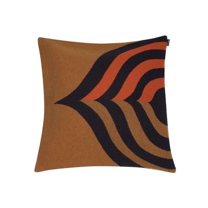 Housse de coussin Keisarinkruunu 50 x 50 cm de Marimekko en brun / noir / orange