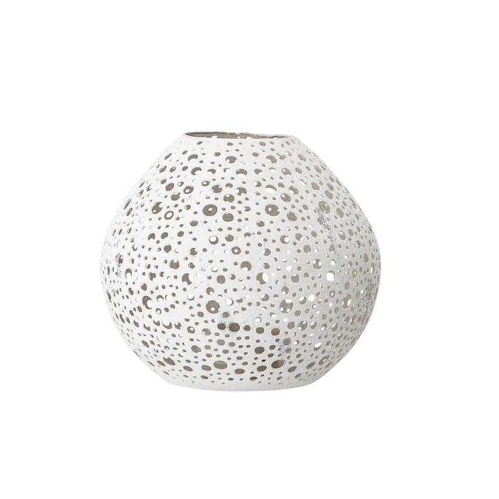 Lanterne à motif Ø 15 x H 15 cm de Bloomingville en blanc