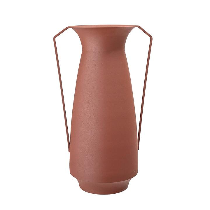Vase en métal avec anses Ø 18 x H 40 cm de Bloomingville en marron