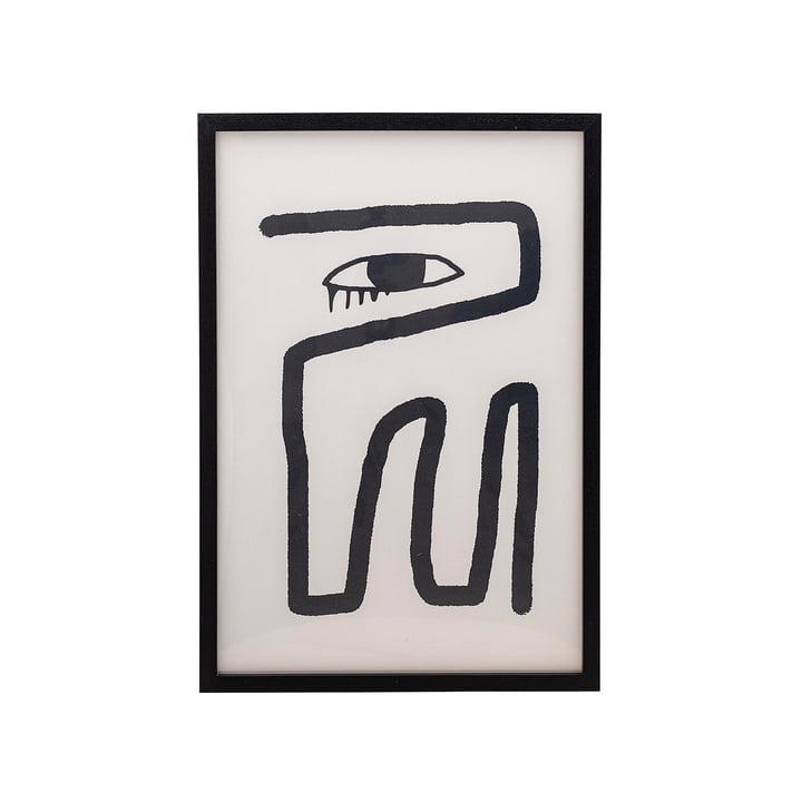 Affiche encadrée 45 x 65 cm de Bloomingville noir / blanc