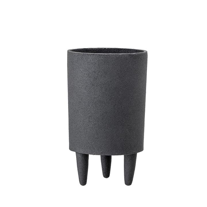 Pot à plantes en aluminium avec pieds Ø 10 x H 18 cm de Bloomingville en noir