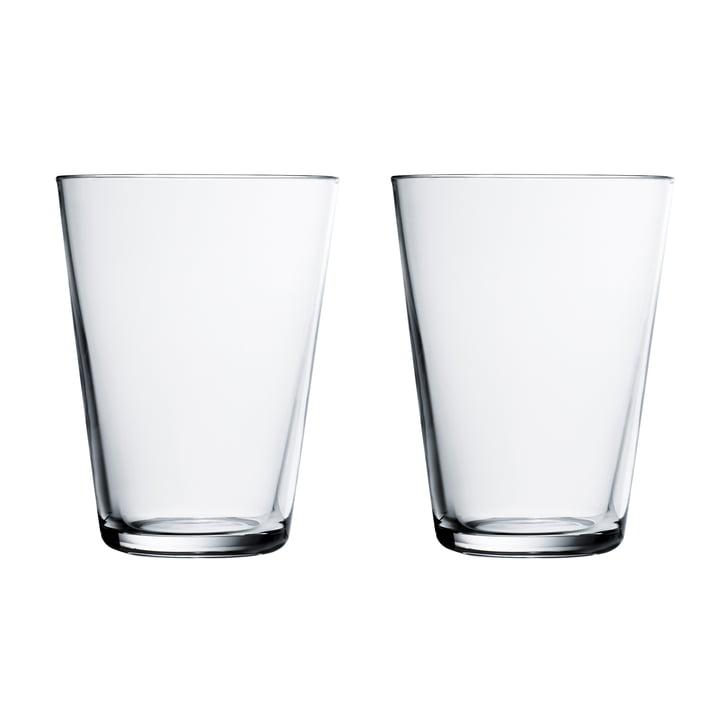 Verre à boire Kartio 40 cl (set de 2) d'Iittala en clair