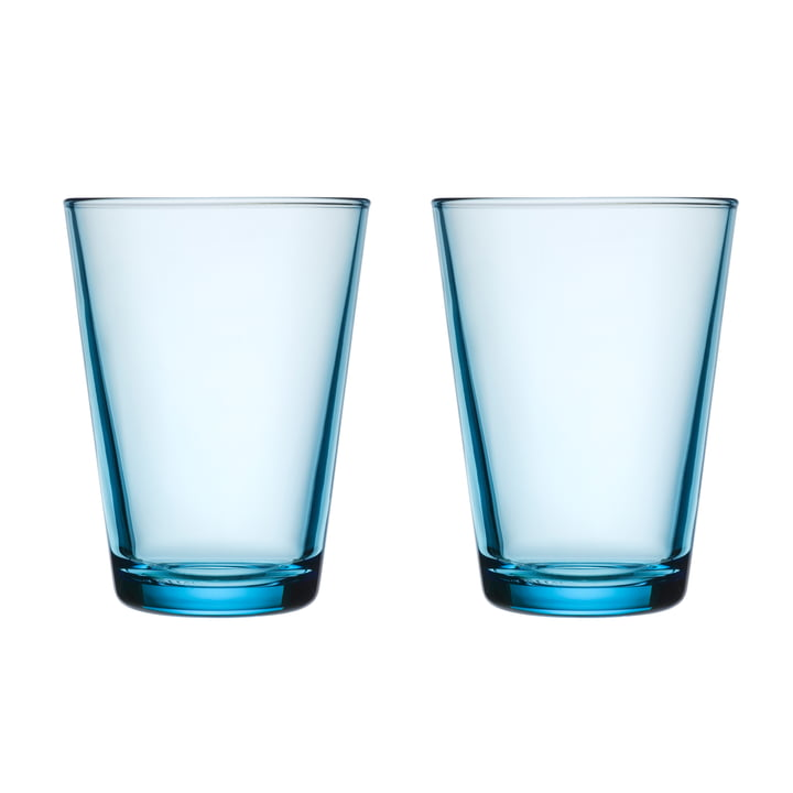 Kartio Verre à boire 40 cl (lot de 2) de Iittala en bleu clair