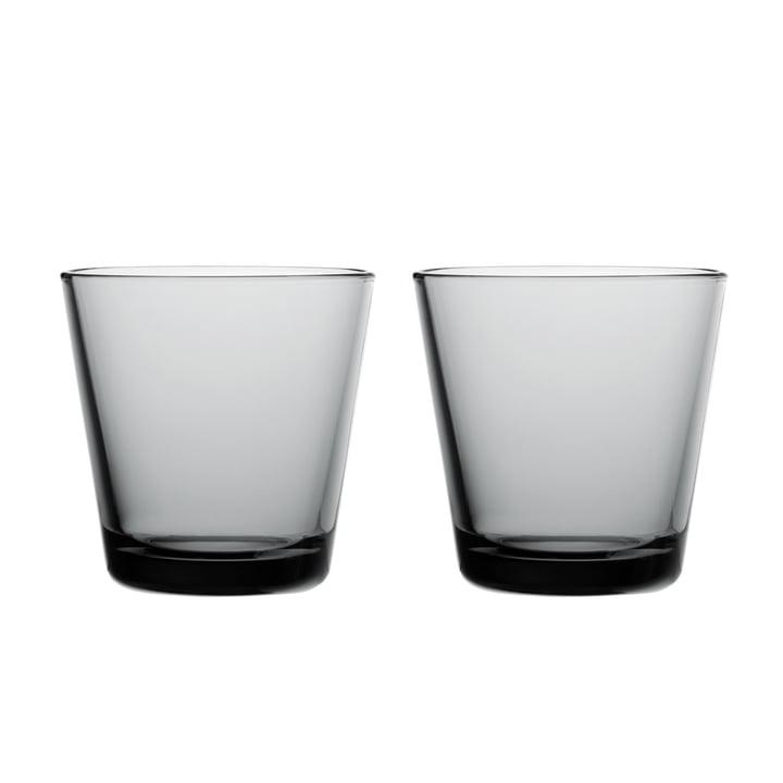 Kartio Verre à boire 21 cl (lot de 2) de Iittala en gris