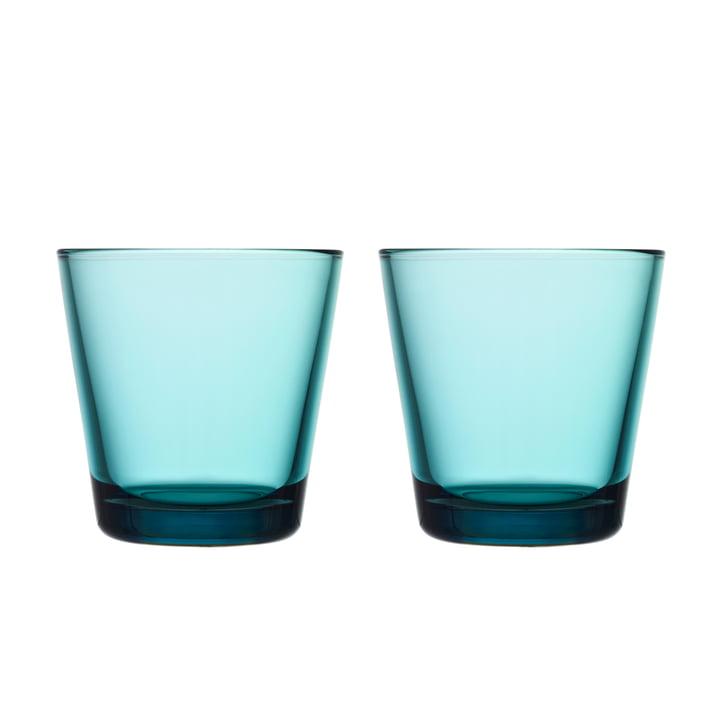 Kartio Verre à boire 21 cl (lot de 2) de Iittala couleur bleu marine