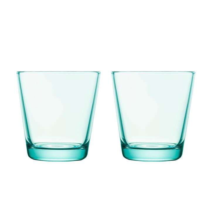 Kartio Verre à boire 21 cl (lot de 2) de Iittala dans l'eau vert