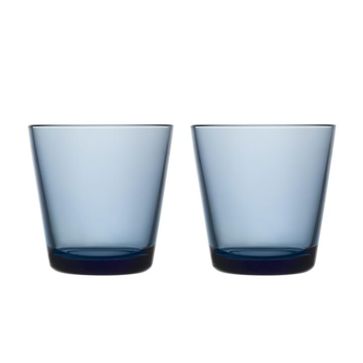 Kartio Verre à boire 21 cl (lot de 2) de Iittala couleur bleu pluie