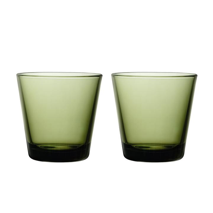 Verre à boire Kartio 21 cl (set de 2) d'Iittala en vert mousse