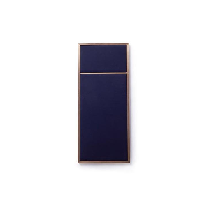 Nouveau Tableau S, 62,3 x 27,6 cm, laiton / navy blue de Please wait to be seated