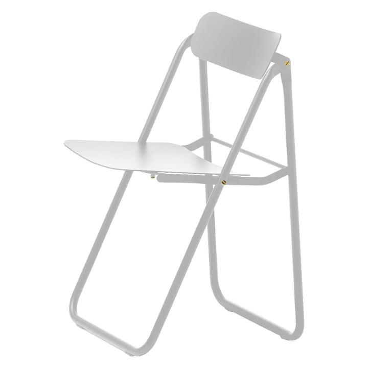 Con.fort chaise pliante en blanc / blanc par Opinion Ciatti