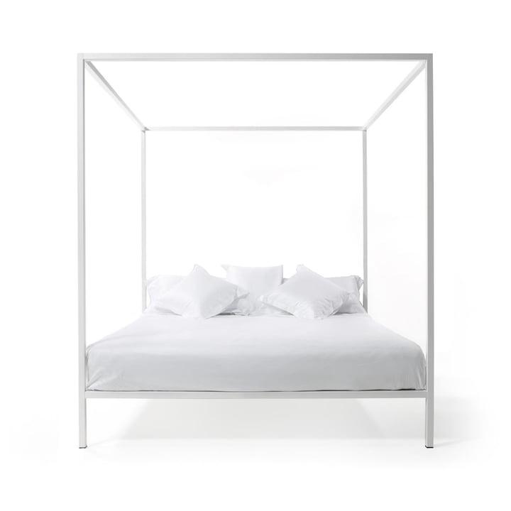 ILletto lit à baldaquin sans tête de lit, 160 x 200 cm en blanc par Opinion Ciatti