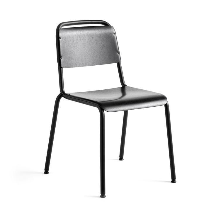 Halftime Chaise, laquée noire / chêne noir de Hay