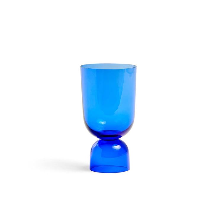 Bas Up Vase S, Ø 11,5 x H 21,5 cm en bleu électrique par Hay