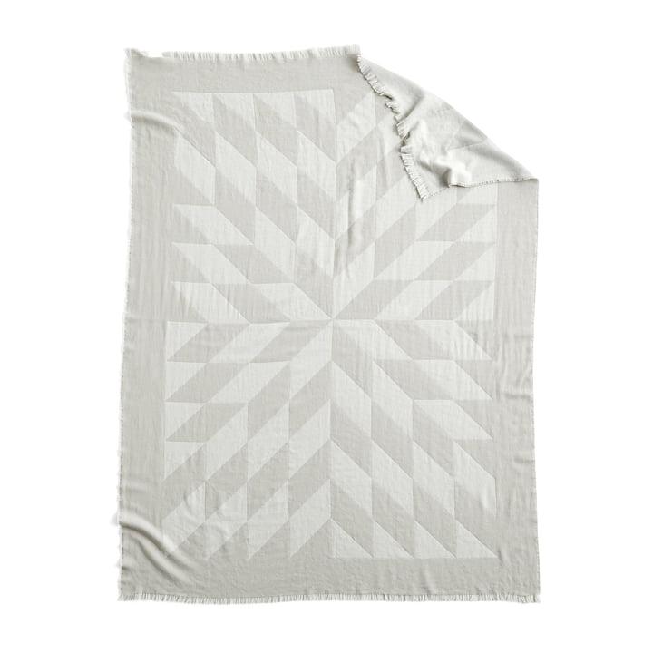 Couverture en laine étoilée, 180 x 130 cm en gris par Hay