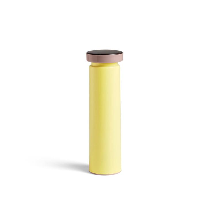 Moulin à sel et poivre de Sowden M, Ø 6 x H 20 cm en jaune par Hay