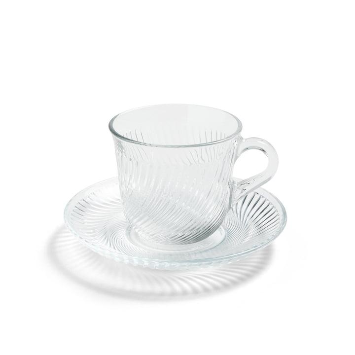 Pirouette tasse et soucoupe Ø 14 x H 9 cm par Foin en clair