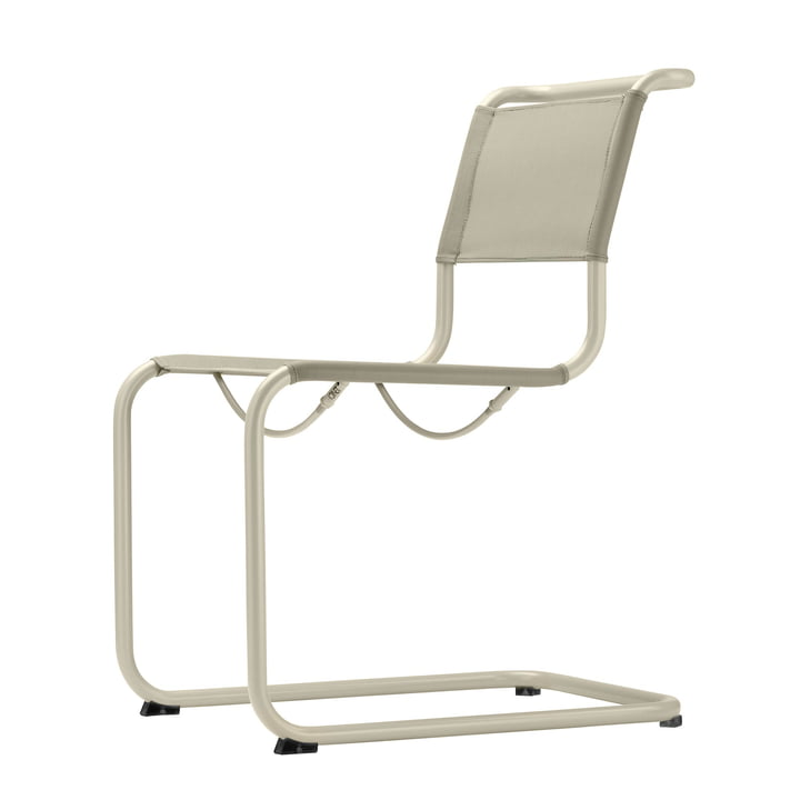 S 33 N All Seasons chair by Thonet avec structure gris chaud (TS 3005) / tissu naturel