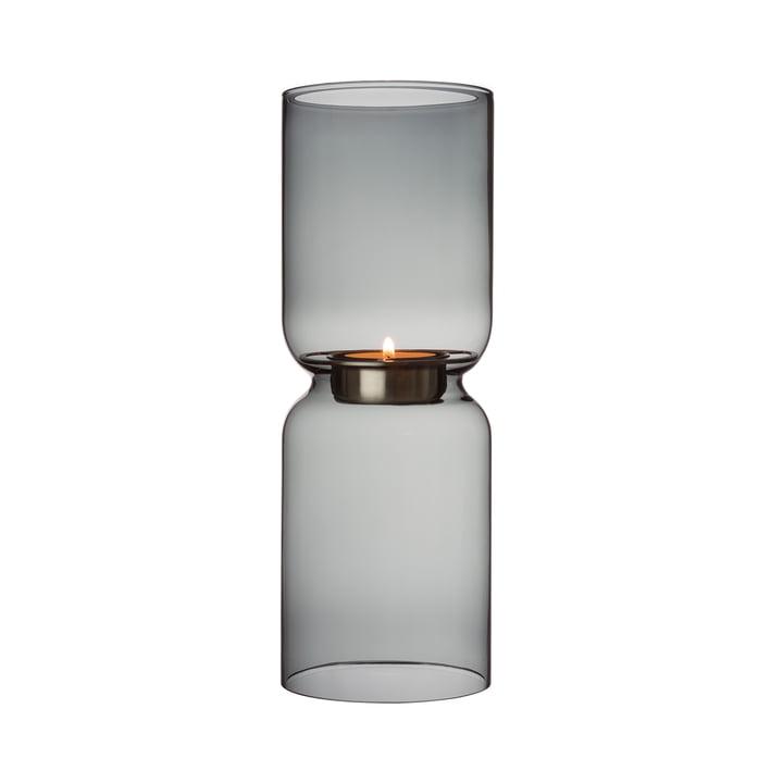 Bougeoir à lanterne 250 mm d'Iittala en gris foncé
