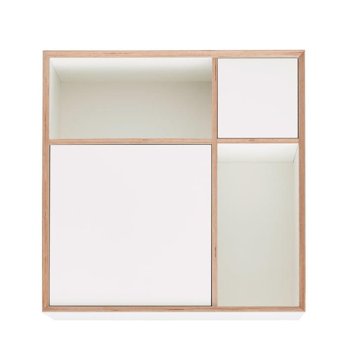 Vertiko Ply Sideboard One de Müller Möbelwerkstätten en CPL blanc pur (RAL 9010)