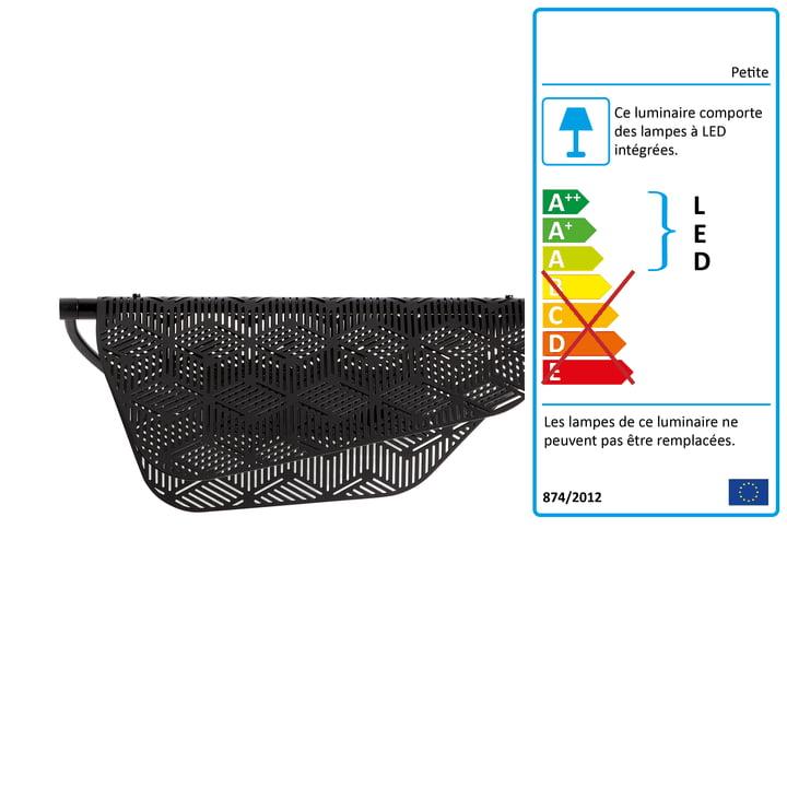 Applique Mediterranea LED Petite Friture en noir