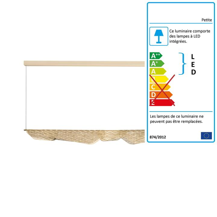 Mediterranea luminaire électroluminescent à LED avec grand pendentif Petite Friture en laiton brossé