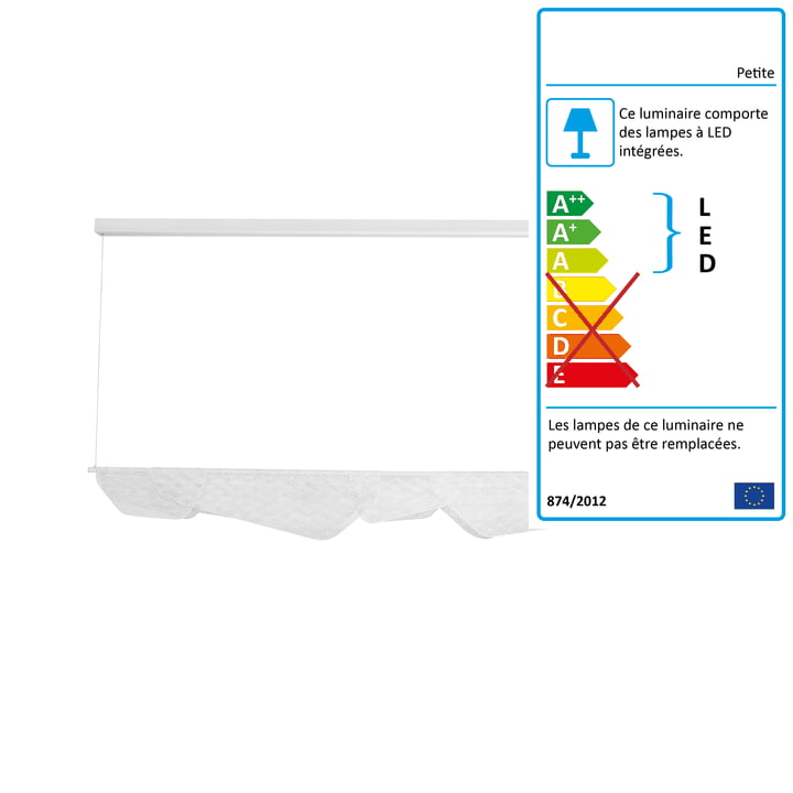 Mediterranea luminaire LED à grand luminaire suspendu de Petite Friture en blanc