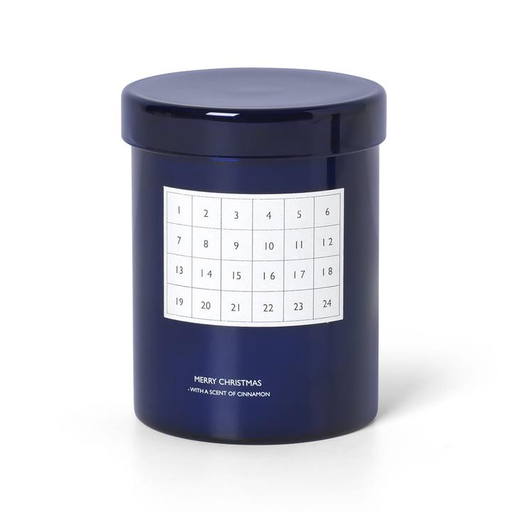 Bougie de calendrier parfumée de ferm Living in blue