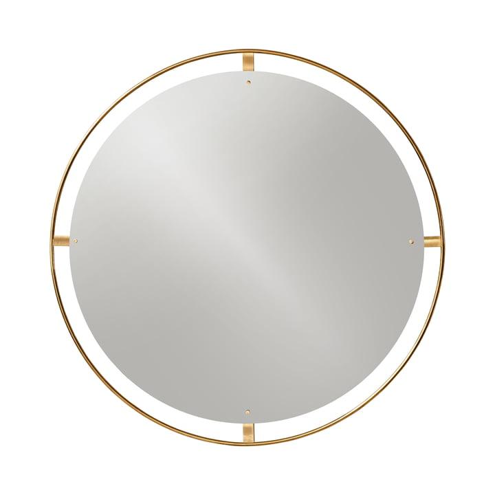 Miroir Nimbus Ø 110 cm, laiton poli par Menu