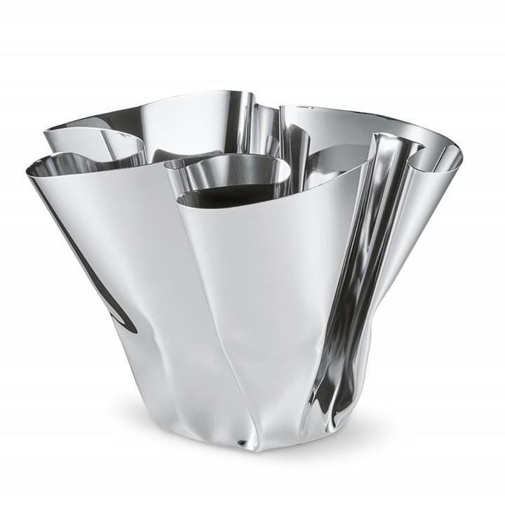 Vase Margeaux H 20 cm, acier inoxydable par Philippi