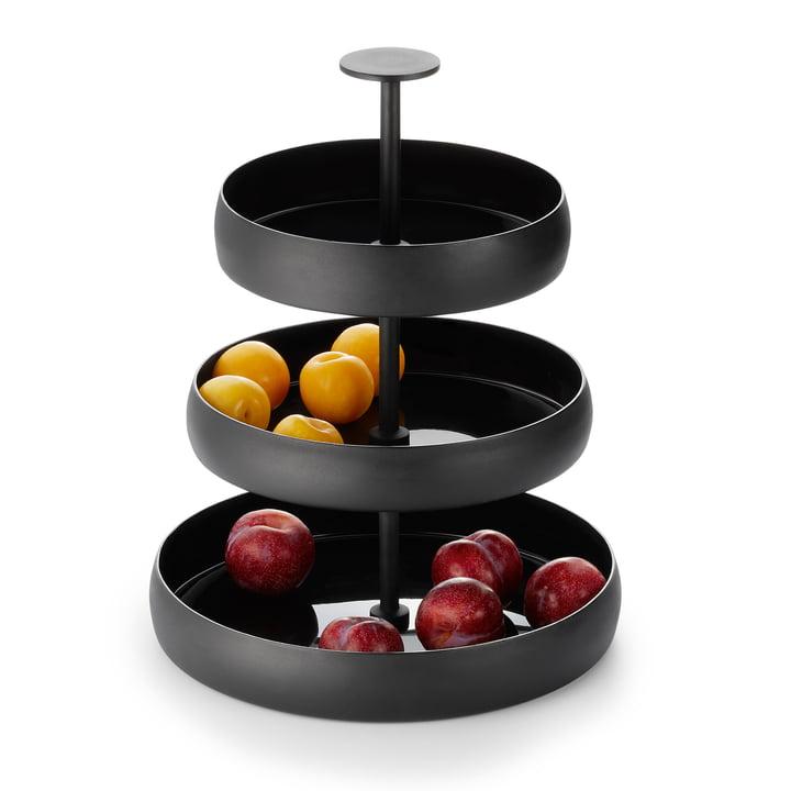 Negretto Etagere en noir de Philippes avec des fruits
