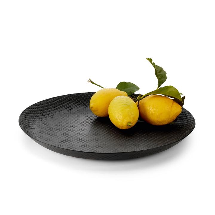 Plateau de sortie Ø 37 cm, noir de Philippes avec fruits