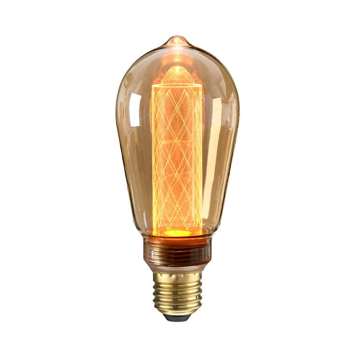 Ampoule LED Circus Ø 65 mm, E27 / 2,5 W, ambre par NUD Collection