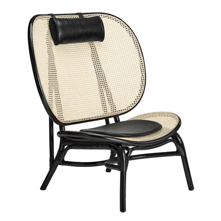 Chaise Nomad Lounge Chair by Norr11 en nature / noir
