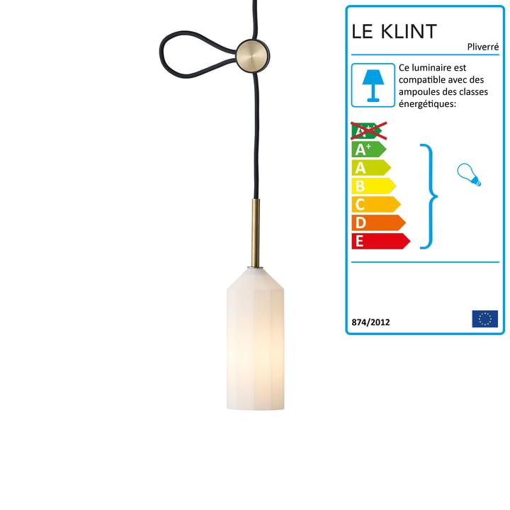 Luminaire suspendu Pliverré Le Klint en noir / blanc