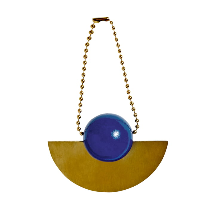Pendentif décoration de Noël Lucia en laiton / bleu par OYOY