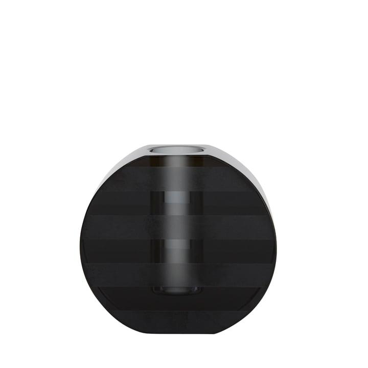 Vase graphique et bougeoir, rond / anthracite par OYOY