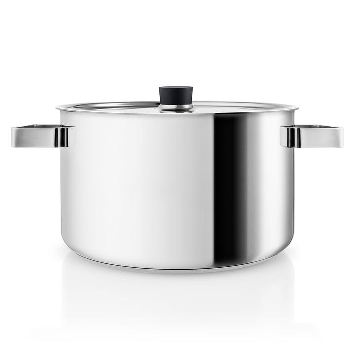 Marmite de cuisine nordique 6 l par Eva Solo en acier inoxydable / noir