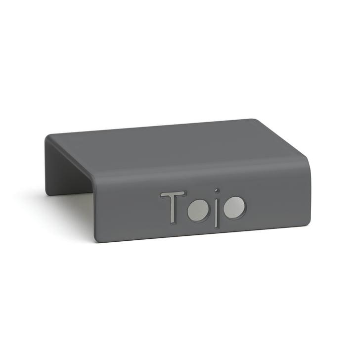 Clip pour système d'étagères à hauts rayonnages de Tojo en anthracite