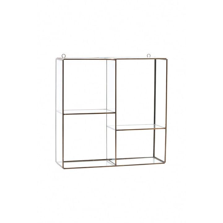 Étagère murale / vitrine Keeper H 33 cm de House Doctor en laiton / verre